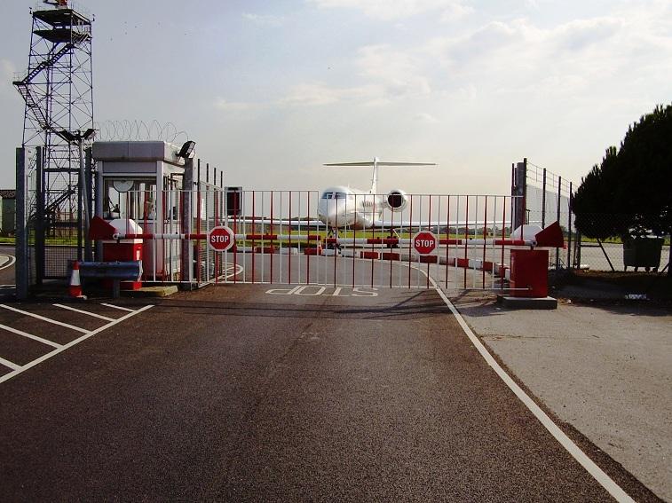 custom airport barrier