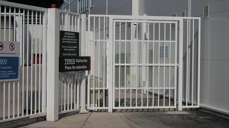 semi automatic pedestrian gate for tesco deliveries