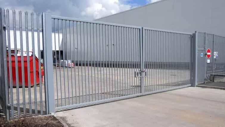 Steel Warehouse Security Gate